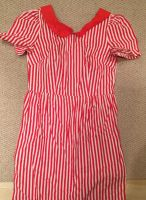 Red and White Stripe Dress